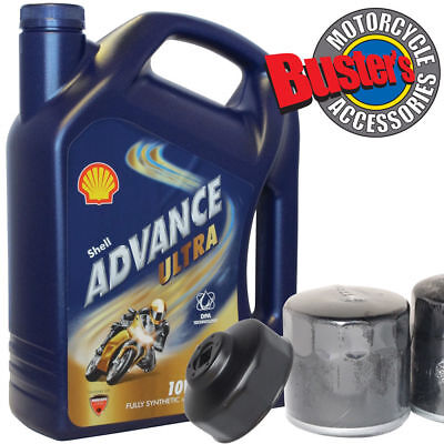 Honda CB1300 03-11 Oil Filter 4L Shell Advance Ultra Fully Synthetic & Wrench • 32.35£