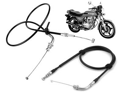 Set Of Throttle Cable Cables Honda CB250N Superdream 1979-1982 (Pull A + Push B) • 16£