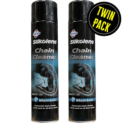 Chain Cleaner Silkolene Motorcycle Aerosol Spray 2 X 500ml Pack • 22.98£