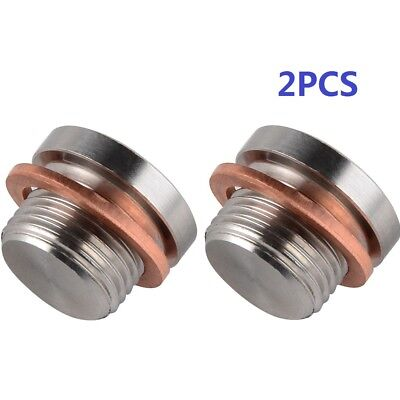 2pcs 18mm Stainless Steel O2 Oxygen Sensor Port Plug For Harley 16925 • 12.42£