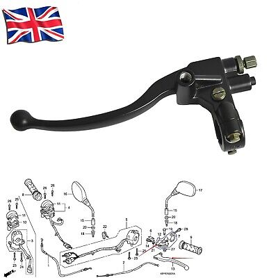 Clutch Lever Mounting Perch With Bracket Mirror Holder Set For Honda CBR125R • 16.99£