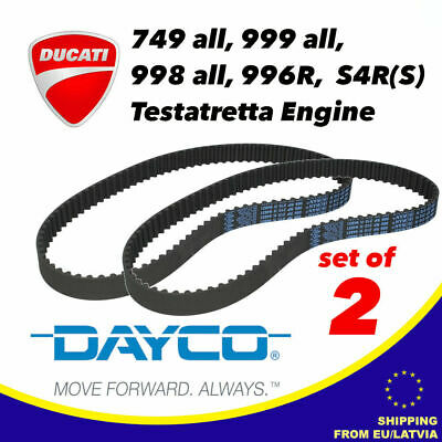 SET OF 2 DAYCO Timing Belts For DUCATI Testastretta Engine 89 X 21 • 44.99£