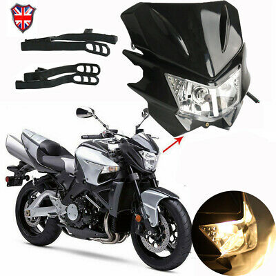 Universal Motorcycle LED Headlight Lamp Fairing For Street Fighter Dirt Bike • 14.99£
