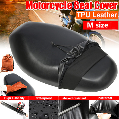 M Size WATERPROOF MOTORBIKE/SCOOTER SADDLE SEAT RAIN COVER/PROTECTOR MOTORCYCLE • 10.79£