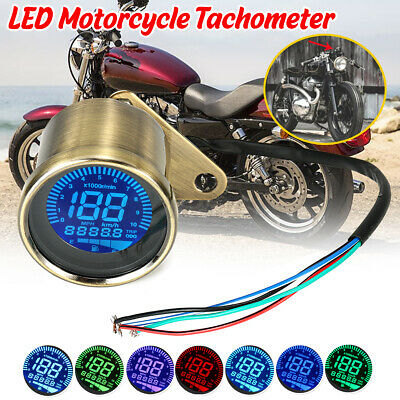 7 Color MPH Motorcycle LCD Digital Odometer Speedometer Tachometer Cafe Racer  • 21.56£