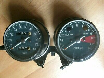 Original Honda Cb200 Cb200t Speedometer Tachometer Rev Counter • 90£
