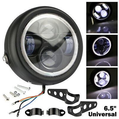 6.5'' Motorcycle Headlight LED Lamp High/Low Beam White Aperture With Bracket • 25.40£