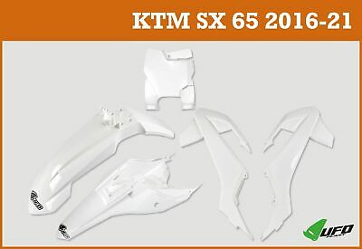 KTM SX 65 2016 - 2021 UFO Plastic Kit With Stadium Front Number Plate White • 74.99£