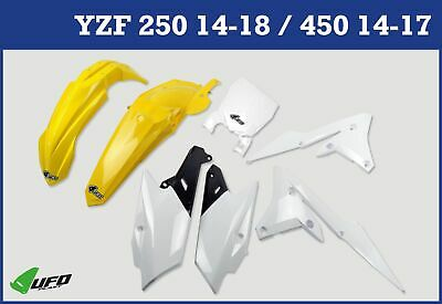 Yamaha YZF 250 2014 - 2018 Plastic Kit With Stadium Front Number Plate Yellow • 99.99£