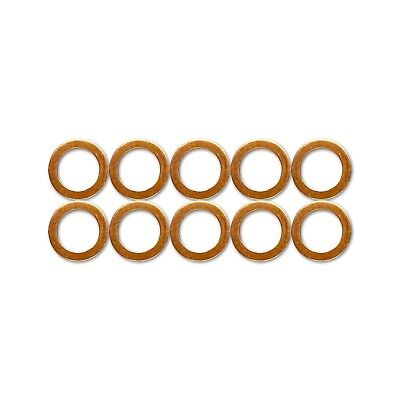 10x M10 Standard Copper Washers For HEL Braided Clutch Brake Hoses Stainless • 3.20£