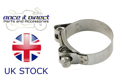 Mikalor Stainless Steel Motorcycle Exhaust Hose Clamp 43mm 44mm 45mm 46mm 47mm • 4.95£