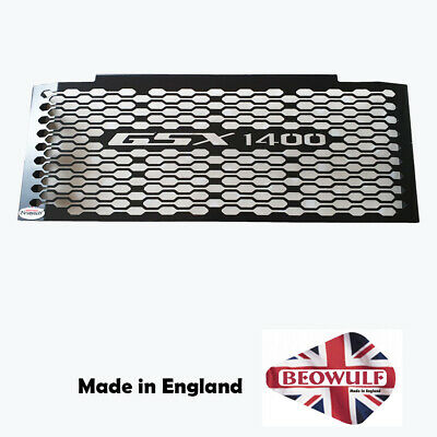 Suzuki GSX1400 (01-08) Black Stainless Steel Beowulf Oil Cooler Guard S005PCB • 66£