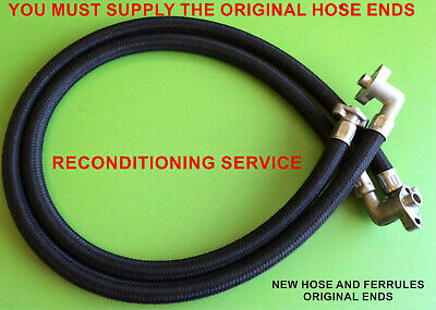 Honda CBX1000 CBX 1000 Engine Oil Cooler Hoses Pipes Line Reconditioning Service • 128£