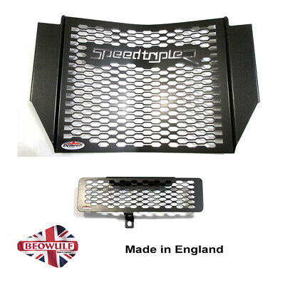 1050 Speed Triple R (16-20) Black Radiator & Oil Cooler Guards Beowulf T038PCB  • 86£