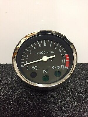 Rev Counter Tacho Universal Motorcycle Motorbike Custom 125 250 350 400 450 Race • 12.95£