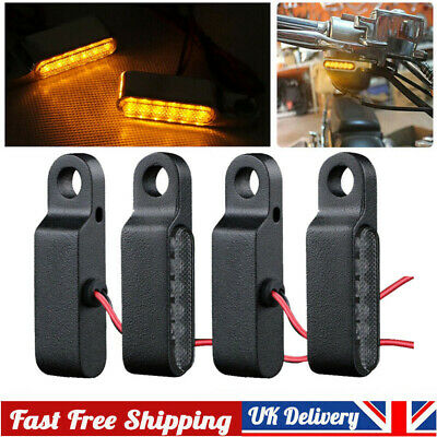 4Pc LED Mini Motorcycle Front&Rear Turn Signals Indicator Blinker Light Lamp 8mm • 11.40£