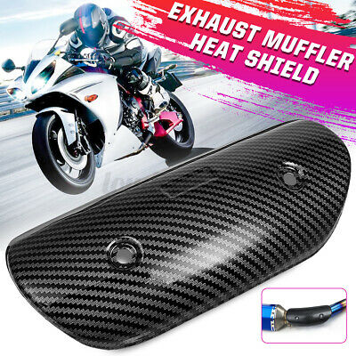 Universal Motorcycle Exhaust Middle Pipe Heat Shield Muffler Protector Guar • 12.59£
