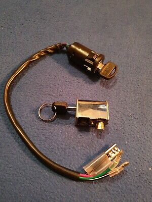 Honda CG125 Ignition Switch And Handle Lock Set Complete Same Key • 18£