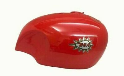 BSA A65 SPITFIRE 4 GALLON RED PAINTED GAS FUEL PETROL TANK WITH LOGO -  Fits For • 265£