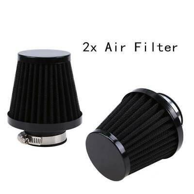 2PCS Adjustable 59/60/61mm Air Intake Filter Pod Cleaner Universal Cold Cone New • 33.99£