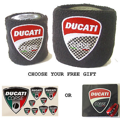 Ducati Reservoir Covers With Free Gift Sock Wristband Superbike Hypermotard 939  • 12.99£