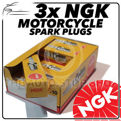 3x NGK Spark Plugs For TRIUMPH 675cc Daytona 675 Triple 05->08 No.4548 • 27.17£