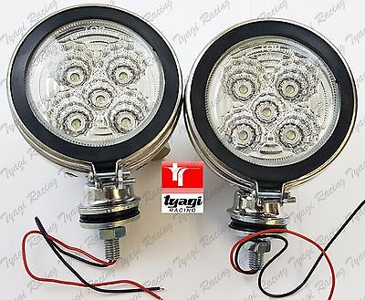 Pair New Royal Enfield Motorcycle 4 Inch Led Chrome Fog Light Spots Lamps • 32.99£