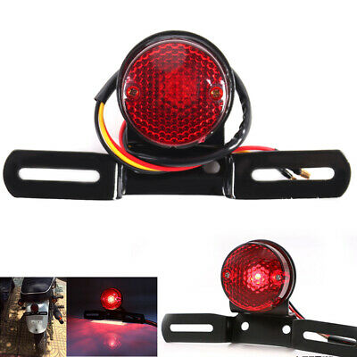 Stop Red Light License Plate Rear Motorcycle Tail Brake Stop Red Lamps Universal • 6.69£