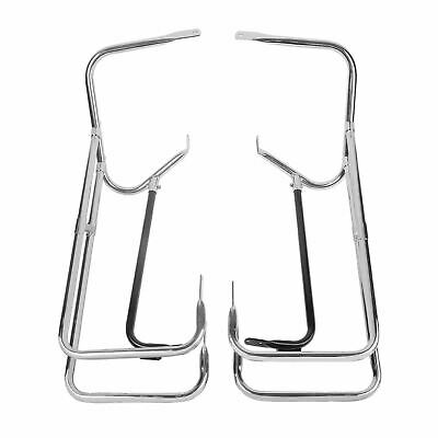 Chrome Twin Rail Saddlebag Crash Bar Guard Harley FLHR 1450 Road King 99-08 • 100.99£