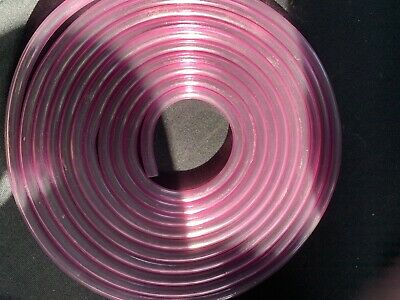 6 Mm Pink Tint Classic 2 Stoke Fuel Hose / Fuel Pipe Motorcycle 1 Mtr • 2£
