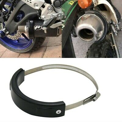 Motorcycle Exhaust Protector Retaining Ring 100-160mm Oval Cover Guard UK • 7.68£