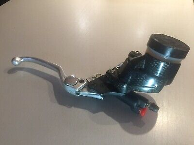 APRILIA TUONO FACTORY 2007 BREMBO FRONT BRAKE MASTER CYLINDER With Carbon Guard. • 125£
