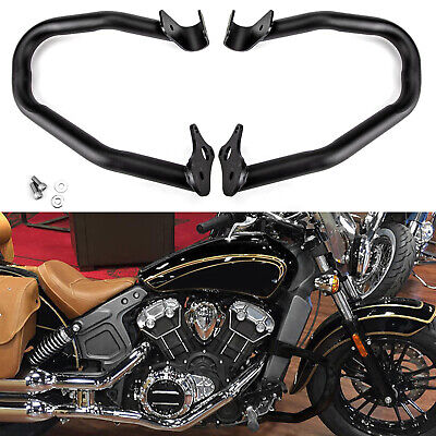 New For Indian Scout 2015-2018 Reliable Engine Guard Highway Crash Bars Black B2 • 157.44£