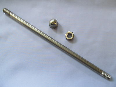 06-7637ks Norton Dominator Single F/bed F/rest Mounting Stud & Nuts Stainless • 25.99£