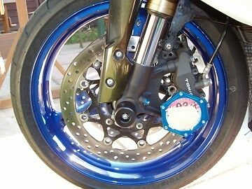 Suzuki Gsxr600 1996 - 2001 Crash Mushrooms Front Axle Sliders  Srad S6u • 25.71£
