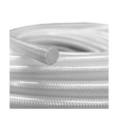 Virgin Methanol SILICON HOSE 6mm Bore PVC Reinforced Fuel Pipe -Clear NOT PETROL • 9.99£