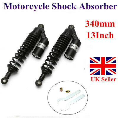 13.5  340mm Scooter Air Shocks Gas Absorber For Honda Yamaha Vmax1200 Motorcycle • 47.49£
