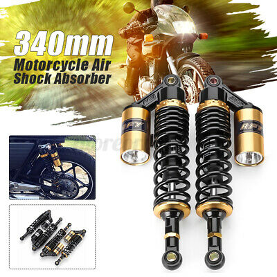 13'' 340mm Motorcycle Rear Air Shock Absorber Suspension For Suzuki Honda UK -/ • 46.69£