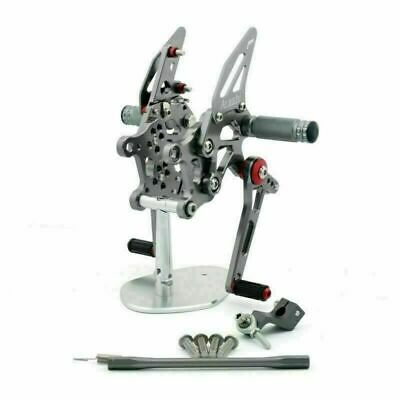 CNC Racing Footrest Rearsets Rear Set Foot Pegs For Aprilia RSV4 2009-2011 GY • 137.58£