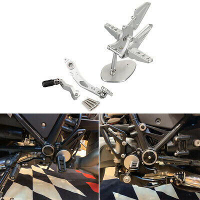 Rearsets Adjustable CNC Foot Pegs Footrest Silver Fits BMW R Nine T R9T 14-18 UK • 166.79£