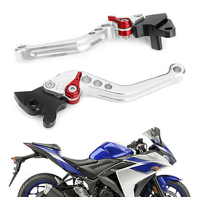 Brake Clutch Levers For YAMAHA YZF-R15 2008-2014 Silver GB • 19.19£