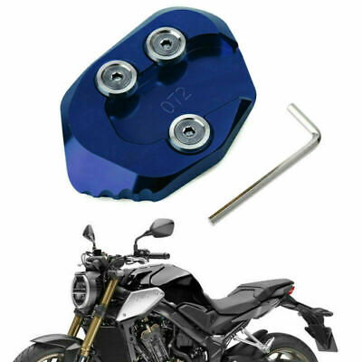 Side Stand Extension Kickstand Enlarger Plate Fits HONDA CB1000R 2018-2019 Blue • 14.39£