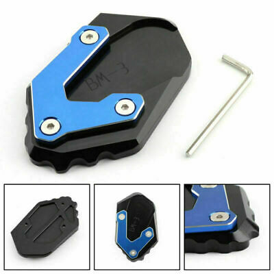 CNC Kickstand Side Stand Plate Extension Pad Fits BMW R1200 GS LC 17-2018 Blue • 16.79£