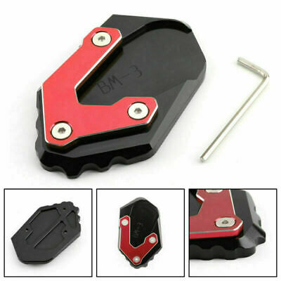 CNC Kickstand Side Stand Plate Extension Pad Fits BMW R1200 GS LC 17-2018 Red UK • 16.79£