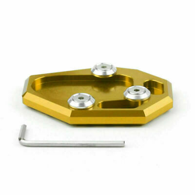 CNC Side Kickstand Stand Extension Plate Fit For YAMAHA MT-07 2014-2015 Gold UK • 14.39£
