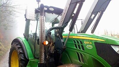 John Deere Polish Stainless Steel Heatshield For Model 6r Series Year 2013,14,15 • 240£