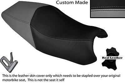 Grey & Black Custom Fits Ducati St3 Dual Real Leather Seat Cover Only • 84.51£