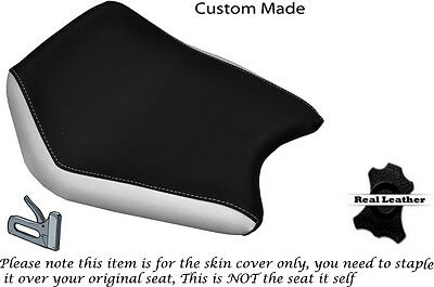 White & Black Custom Fits Cagiva Prima 50 Front Rider Leather Seat Cover Only • 47.24£