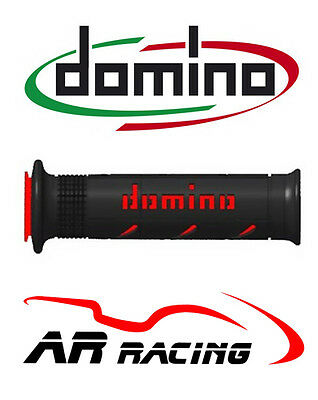 Domino XM2 Super Soft Motorcycle Grips (pair) In Black & Red • 19.53£