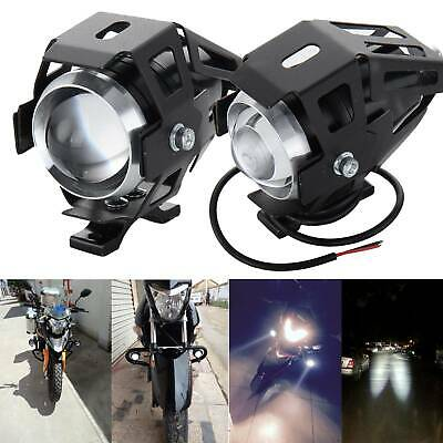 2PCS Motorcycle Headlight U5 CREE LED Motorbike Driving Spot Light Fog Lamp • 10.99£